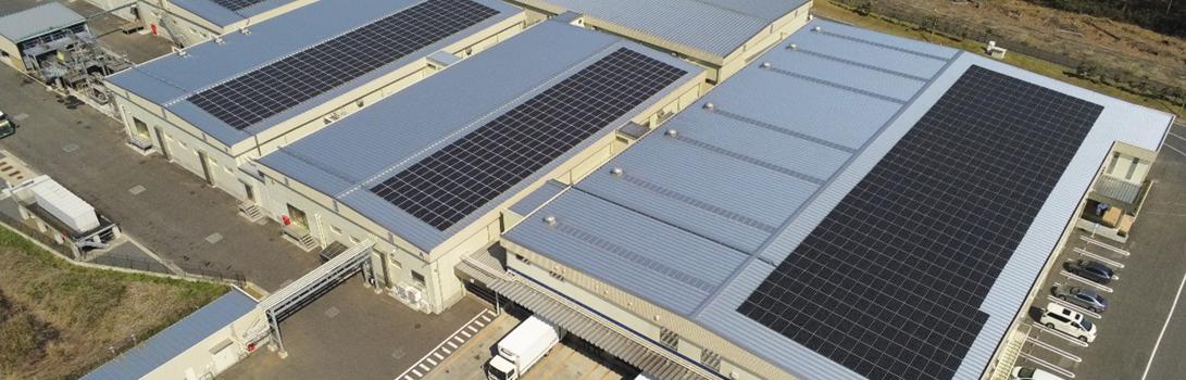 社工場と小美玉工場にソーラーパネルを増設・設置しました