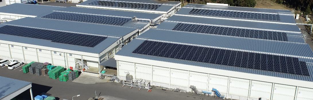 本社工場と小美玉工場にソーラーパネルを増設・設置しました